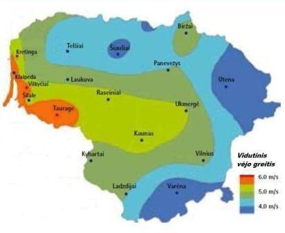 Vėjo energijos ištekliai Lietuvoje