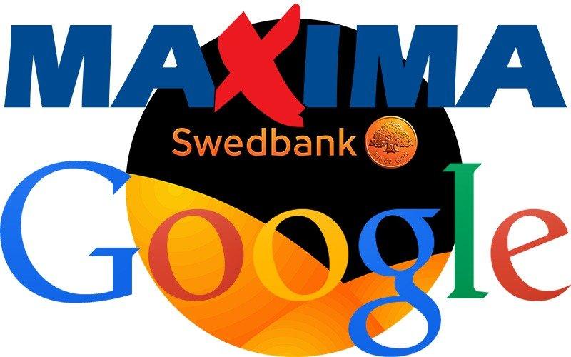 Google, Swedbank ir Maxima - labiausiai mėgstami prekių ženklai Baltijos valstybėse