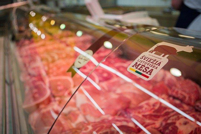 Šviežios lietuviškos mėsos populiarumas auga