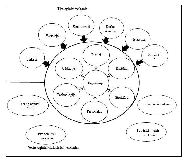 1 pav. Organizacijos aplinkos