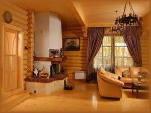 Rąstinio namo interjeras