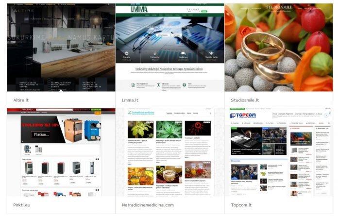 Internetinių svetainių kūrimas